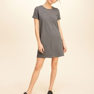 Hollister Distressed T-shirt Dress Women's XS